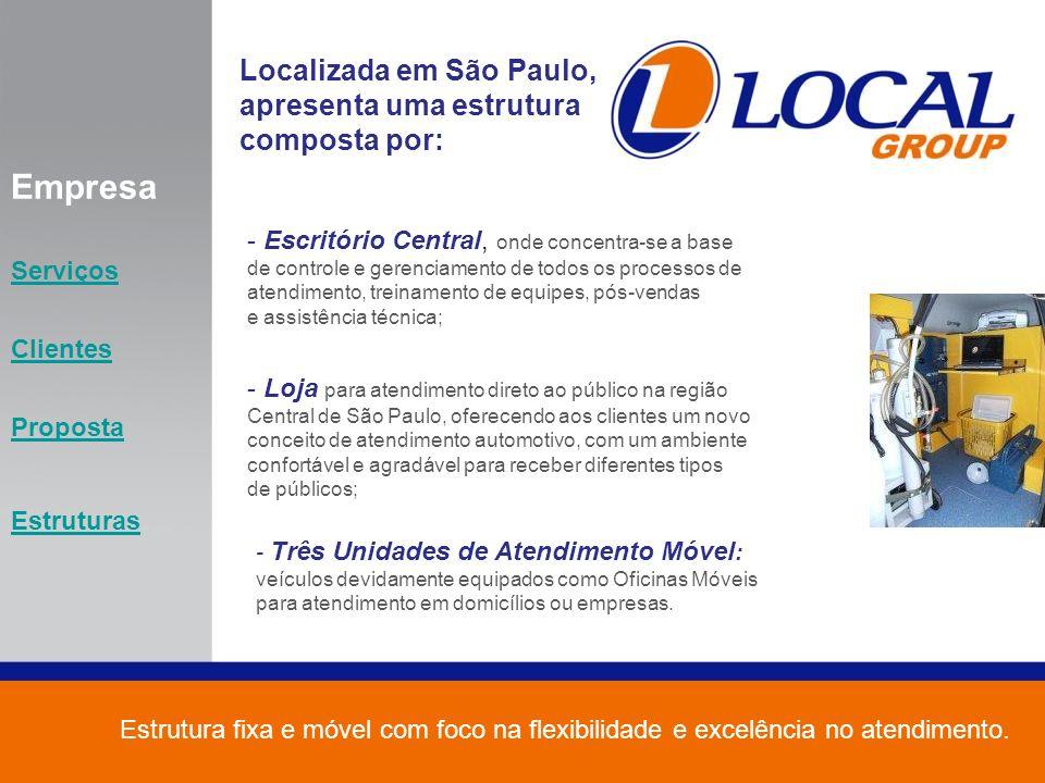 Empresa Localizada em São Paulo, apresenta uma estrutura composta por: