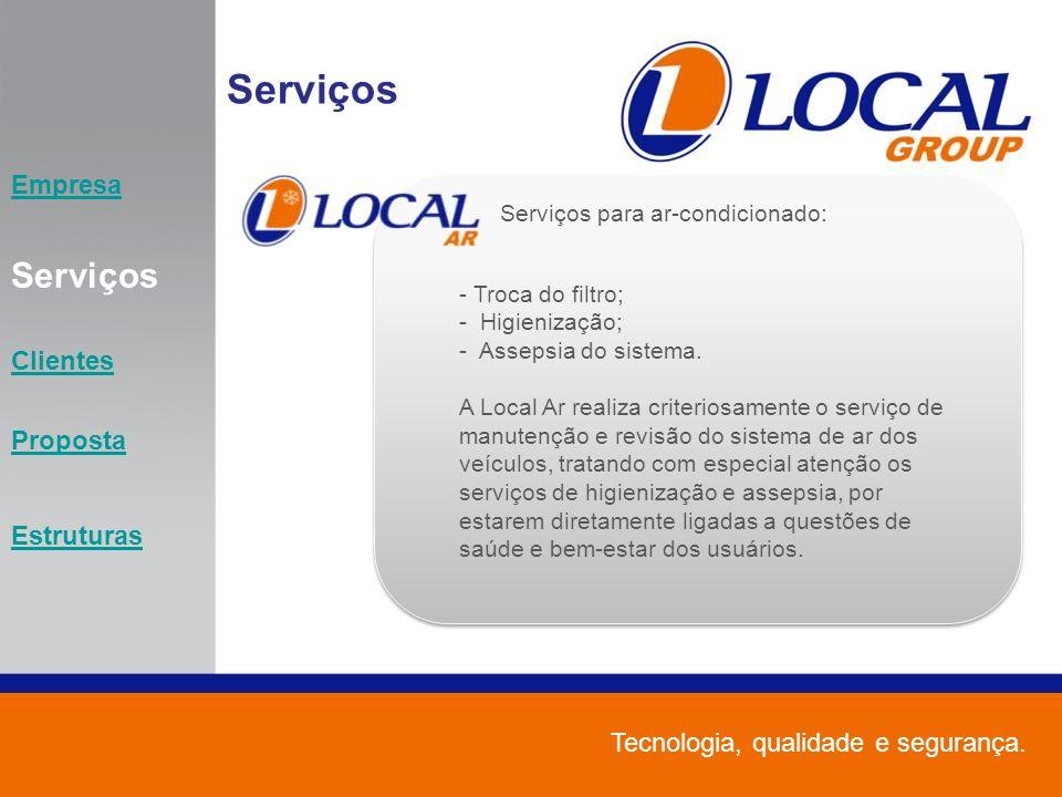Serviços Serviços Empresa Clientes Proposta Estruturas