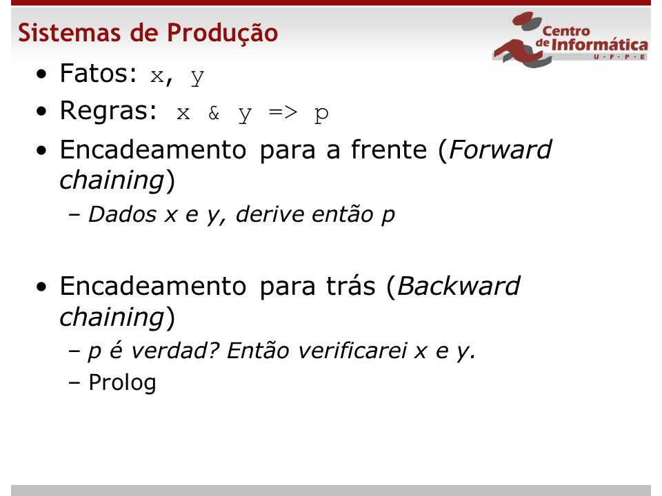 Encadeamento para a frente (Forward chaining)