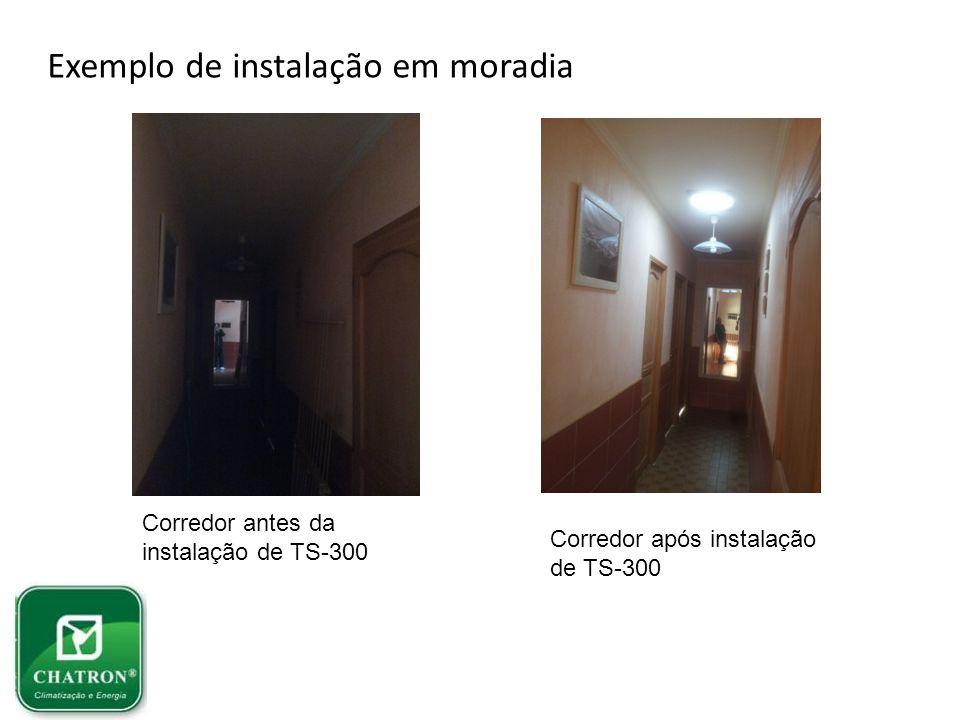 Exemplo de instalação em moradia