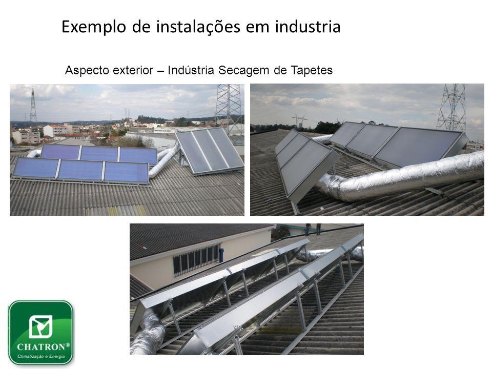 Exemplo de instalações em industria