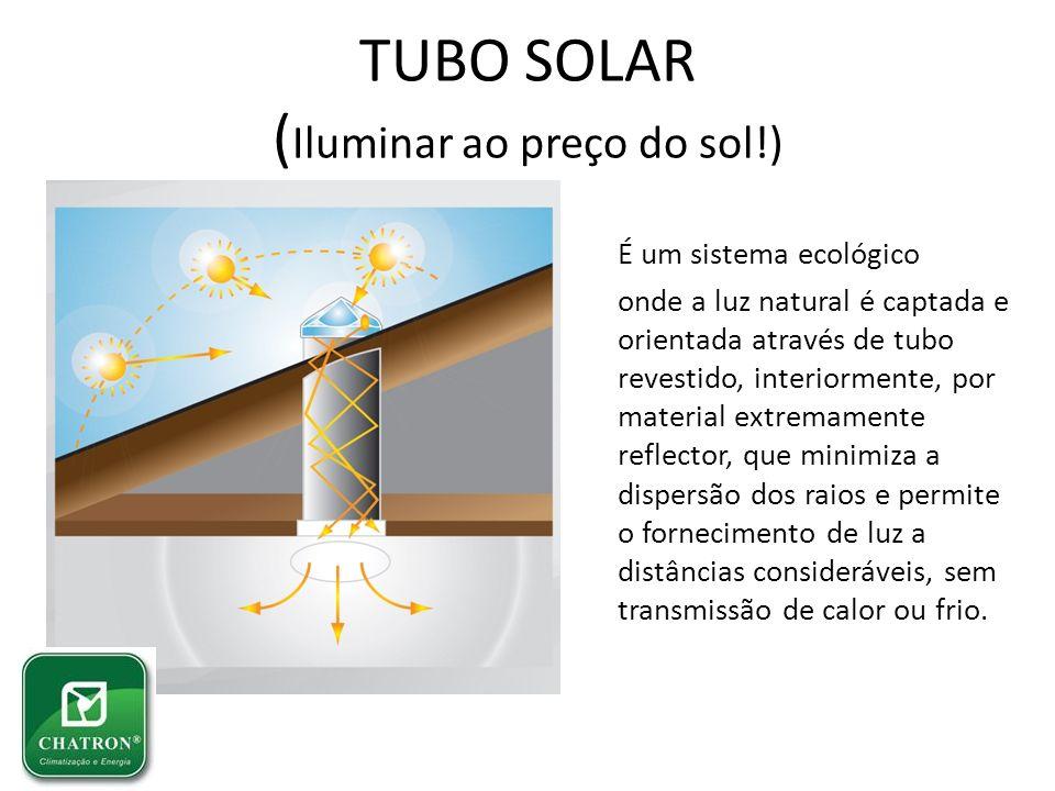 TUBO SOLAR (Iluminar ao preço do sol!)
