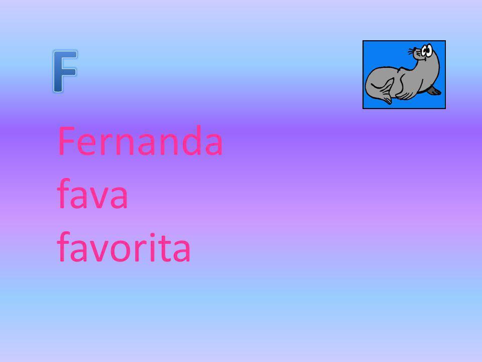 Fernanda fava favorita