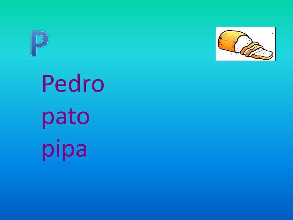 P Pedro pato pipa