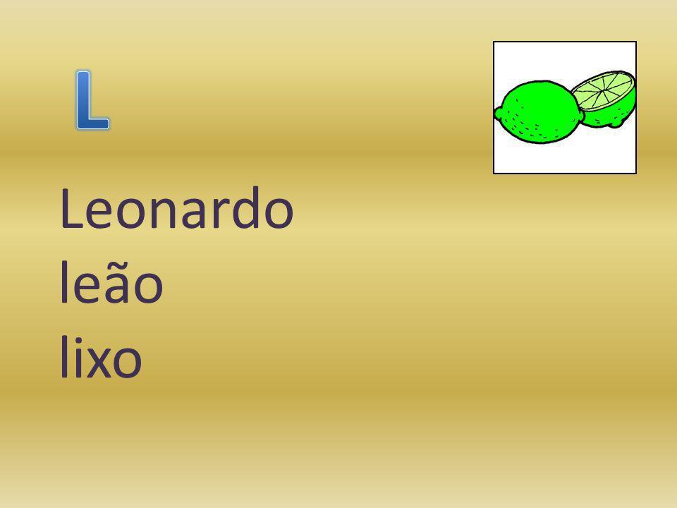 L Leonardo leão lixo
