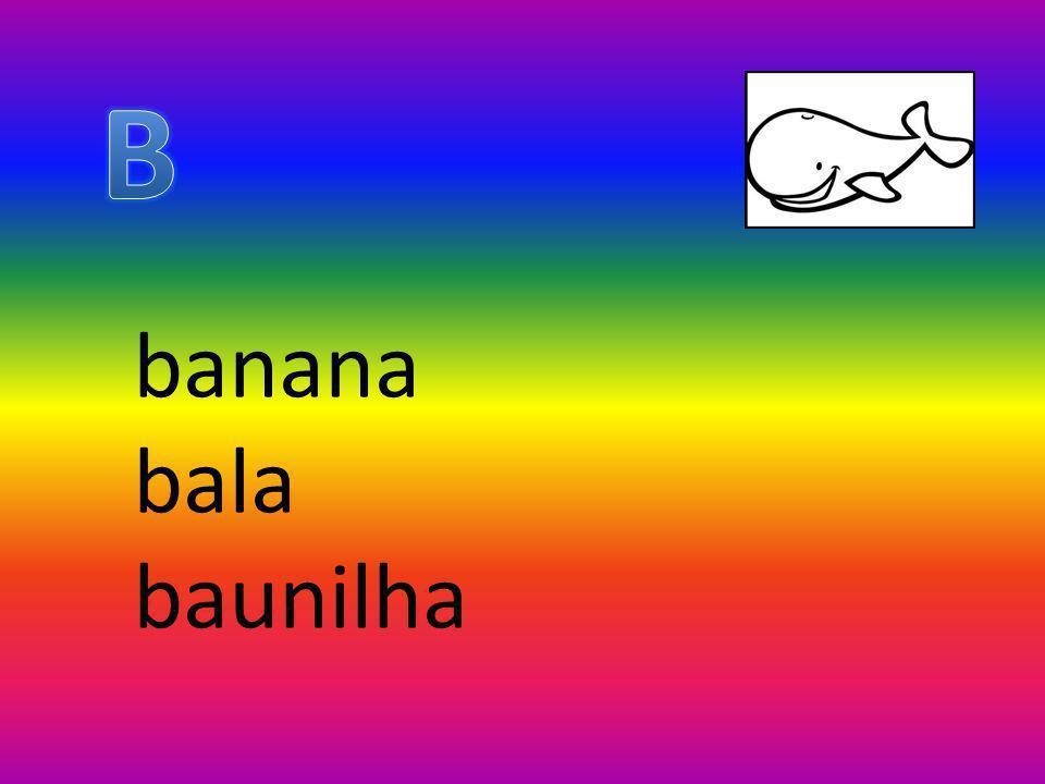 B banana bala baunilha