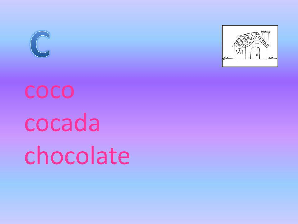 C coco cocada chocolate