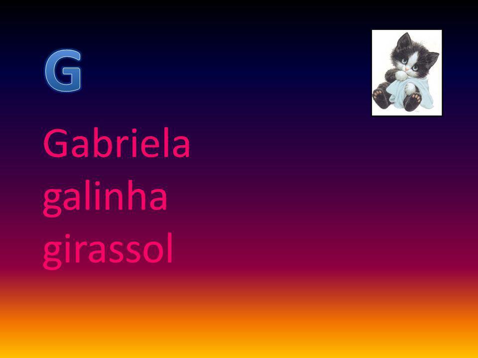 Gabriela galinha girassol