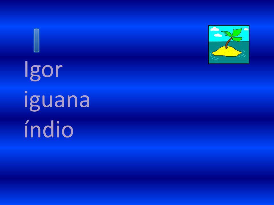 I Igor iguana índio