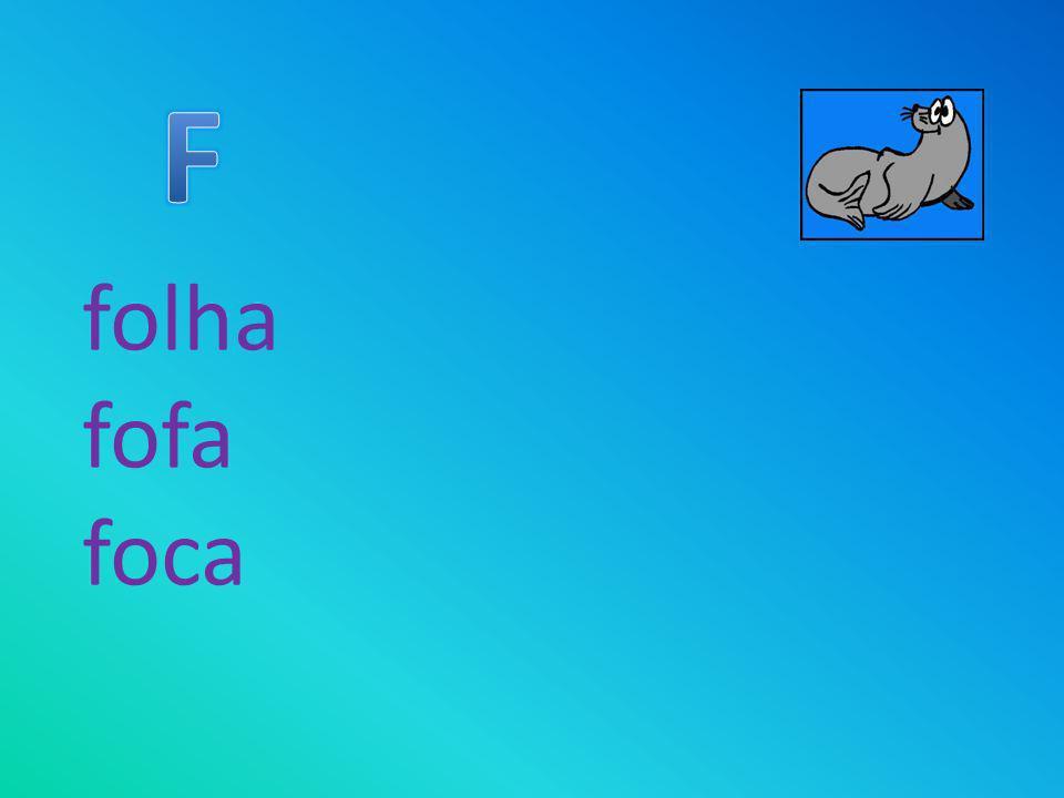 F folha fofa foca