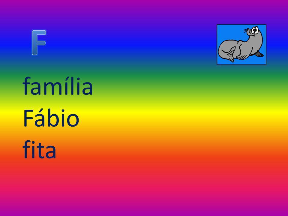 F família Fábio fita