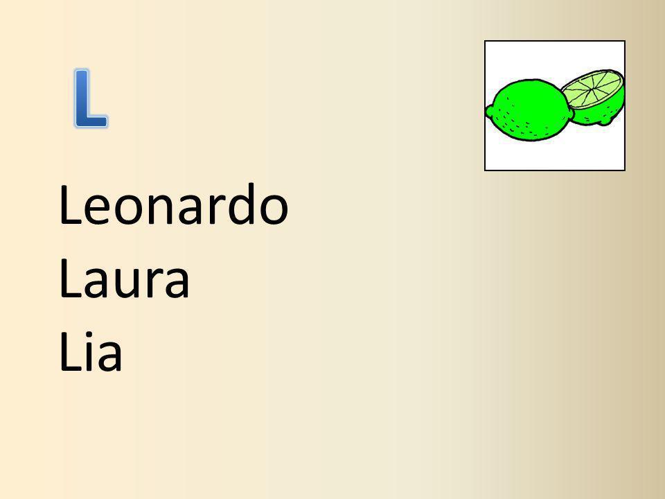 L Leonardo Laura Lia