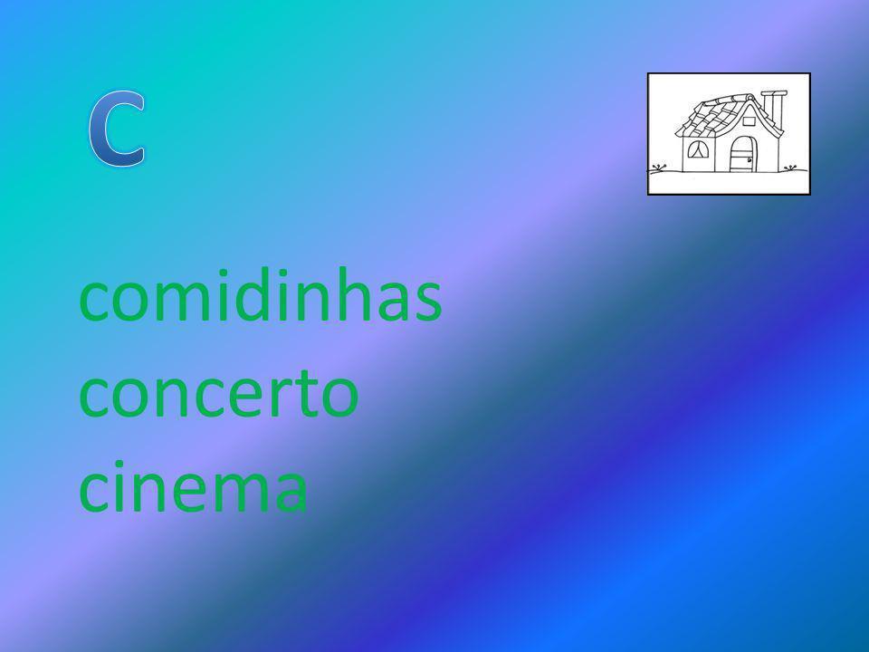 comidinhas concerto cinema