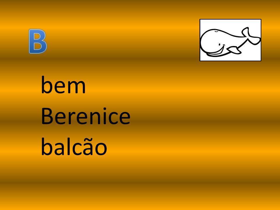 B bem Berenice balcão