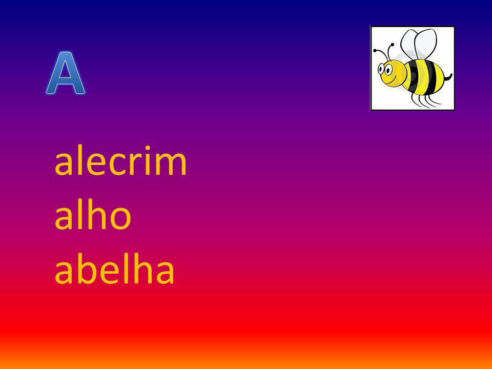 A alecrim alho abelha