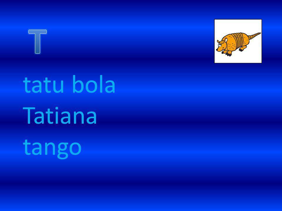 tatu bola Tatiana tango