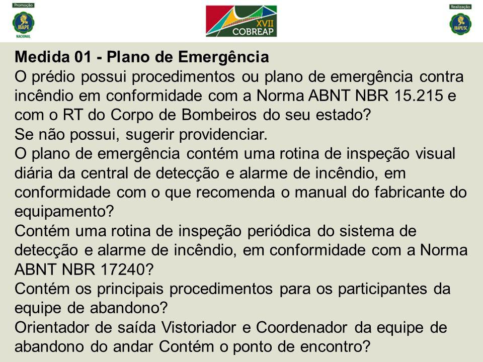 Medida 01 - Plano de Emergência
