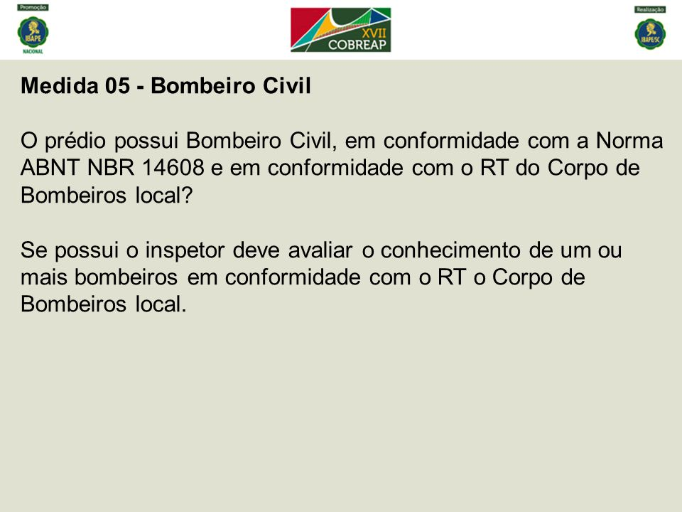 Medida 05 - Bombeiro Civil
