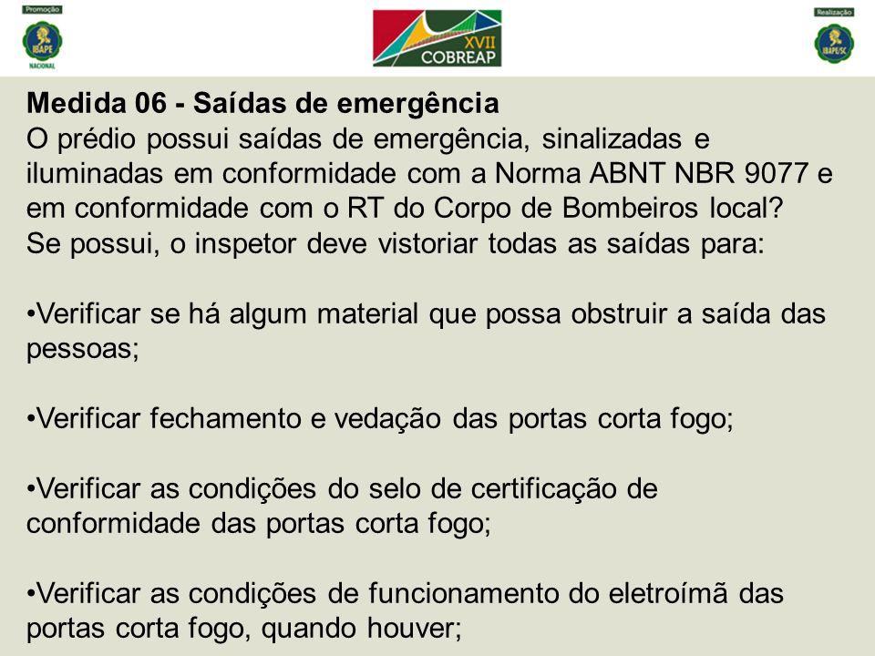 Medida 06 - Saídas de emergência