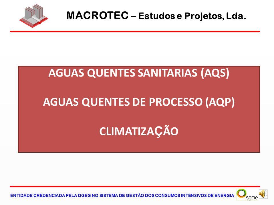 AGUAS QUENTES SANITARIAS (AQS) AGUAS QUENTES DE PROCESSO (AQP)