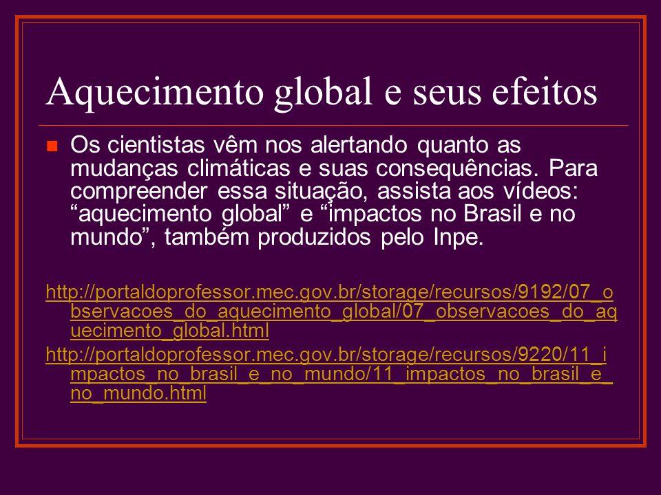 Aquecimento global e seus efeitos
