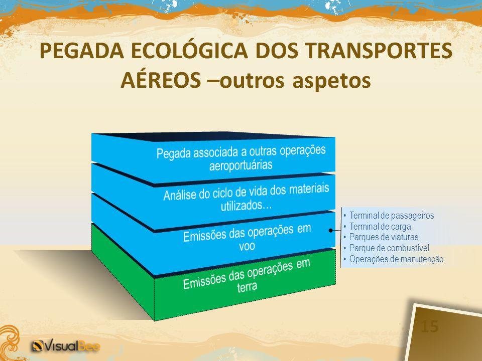 PEGADA ECOLÓGICA DOS TRANSPORTES AÉREOS –outros aspetos