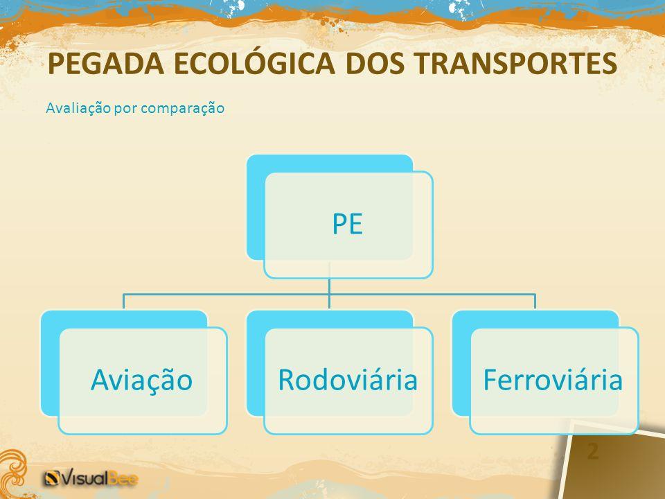 PEGADA ECOLÓGICA DOS TRANSPORTES
