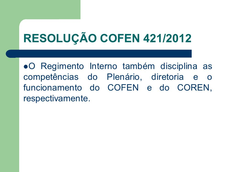 RESOLUÇÃO COFEN 421/2012