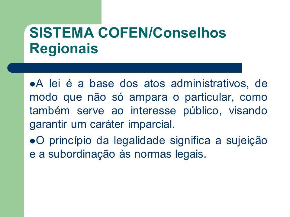 SISTEMA COFEN/Conselhos Regionais