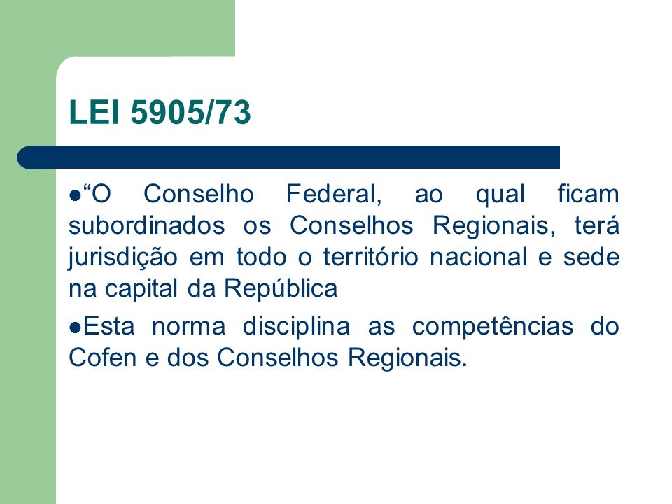 LEI 5905/73