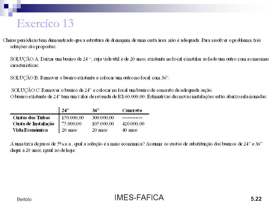 Exercíco 13 Bertolo IMES-FAFICA
