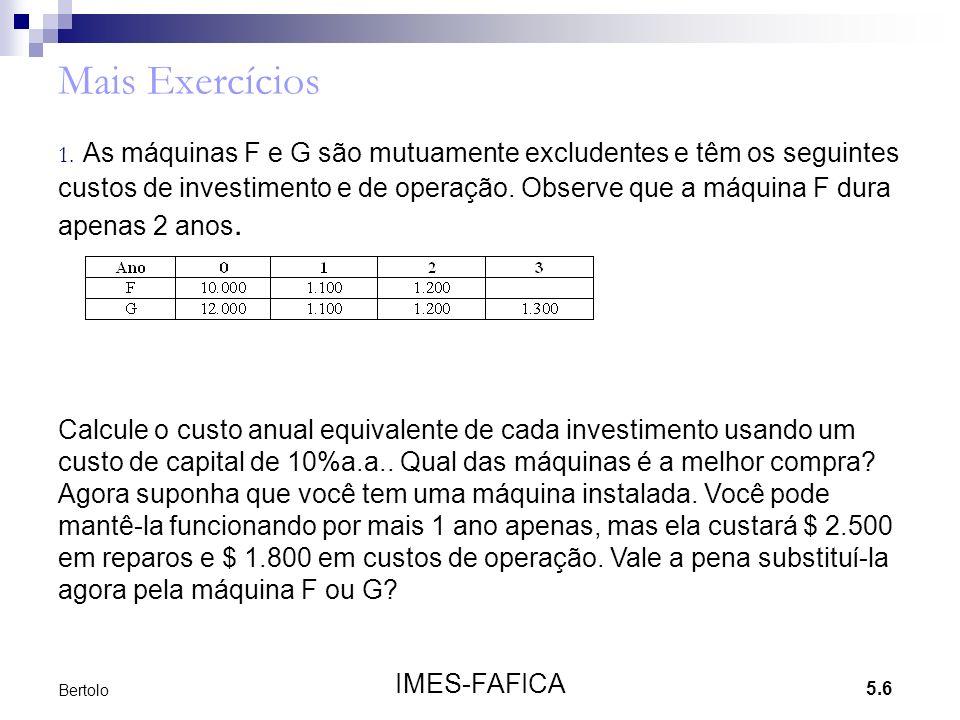 Mais Exercícios