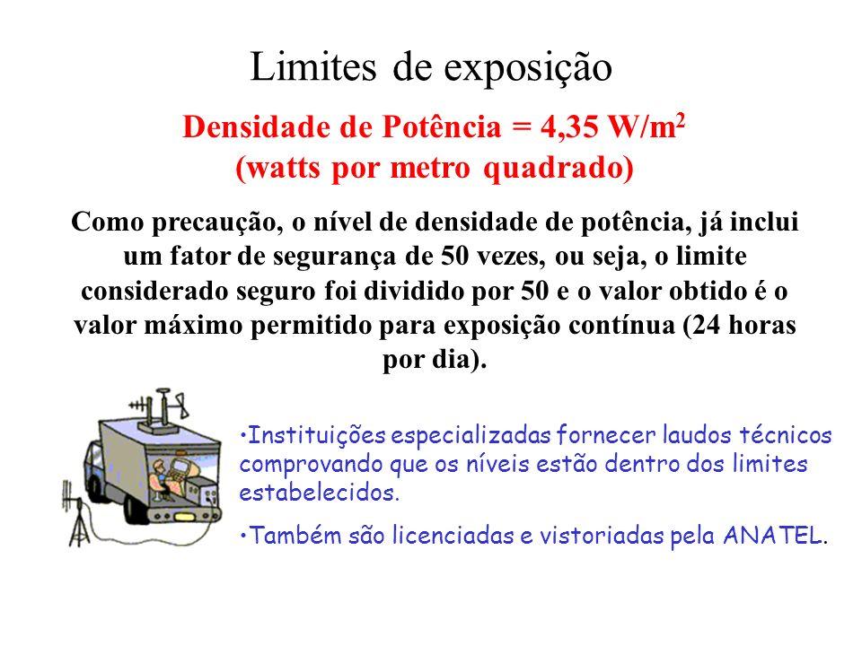 Densidade de Potência = 4,35 W/m2 (watts por metro quadrado)