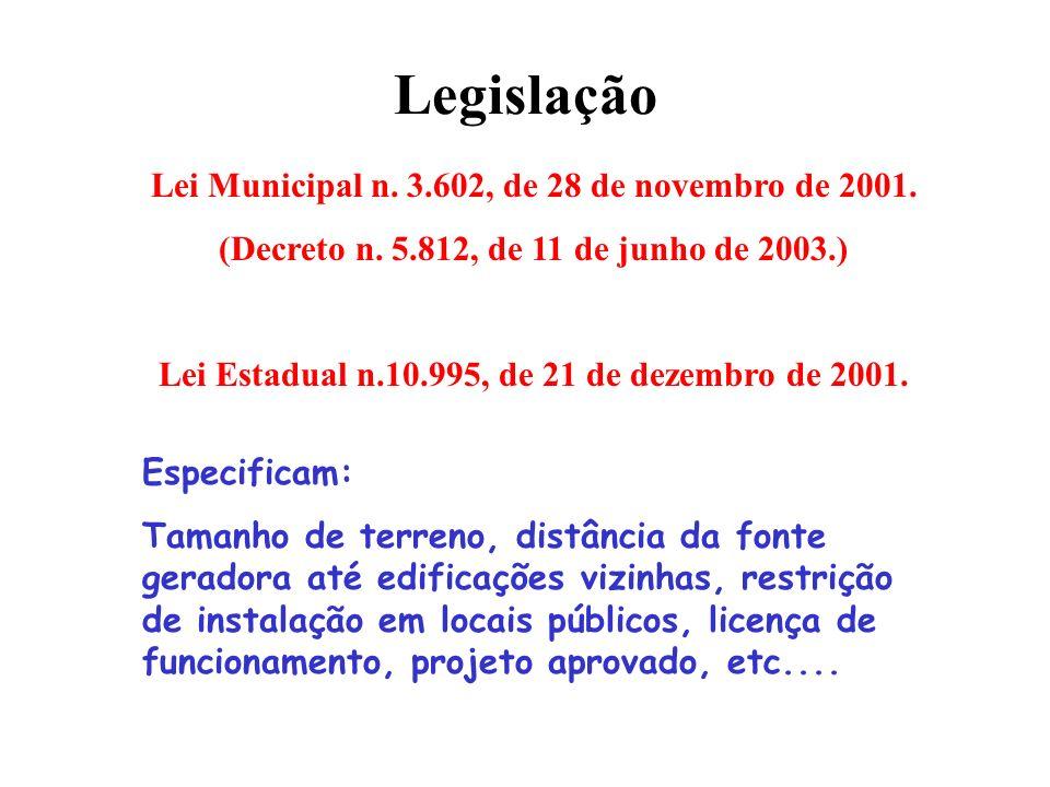 Legislação Lei Municipal n. 3.602, de 28 de novembro de 2001.