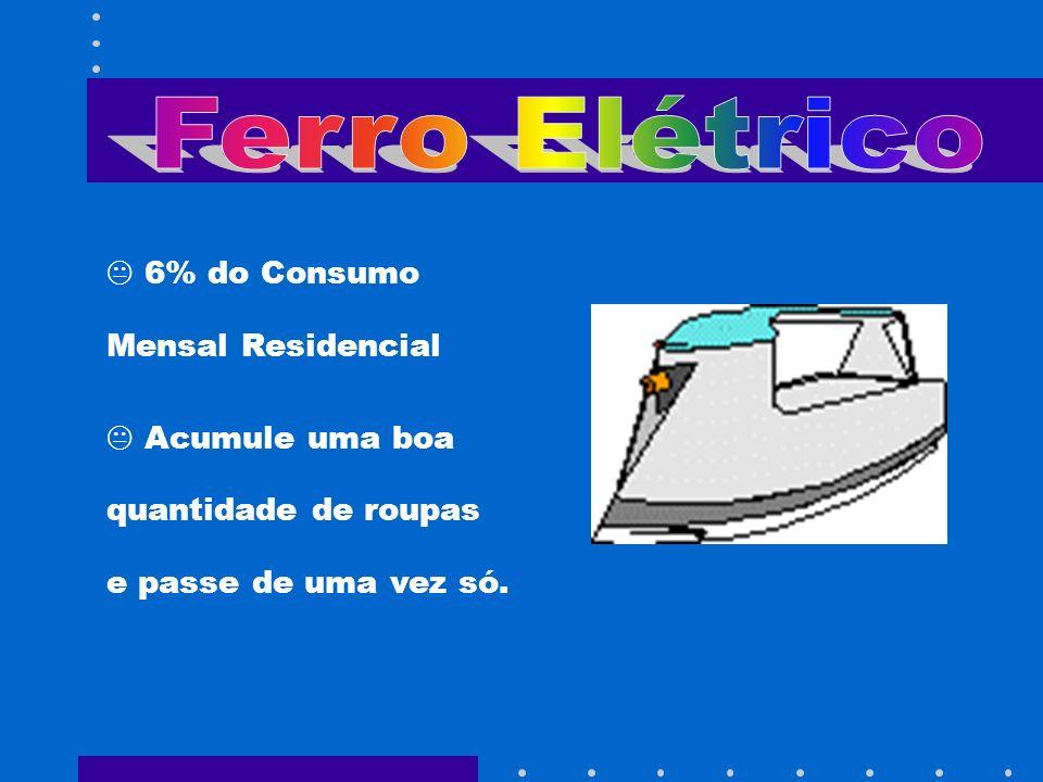 Ferro Elétrico 6% do Consumo Mensal Residencial