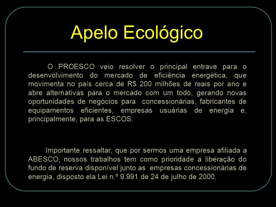 Apelo Ecológico