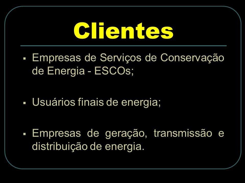 Clientes Empresas de Serviços de Conservação de Energia - ESCOs;