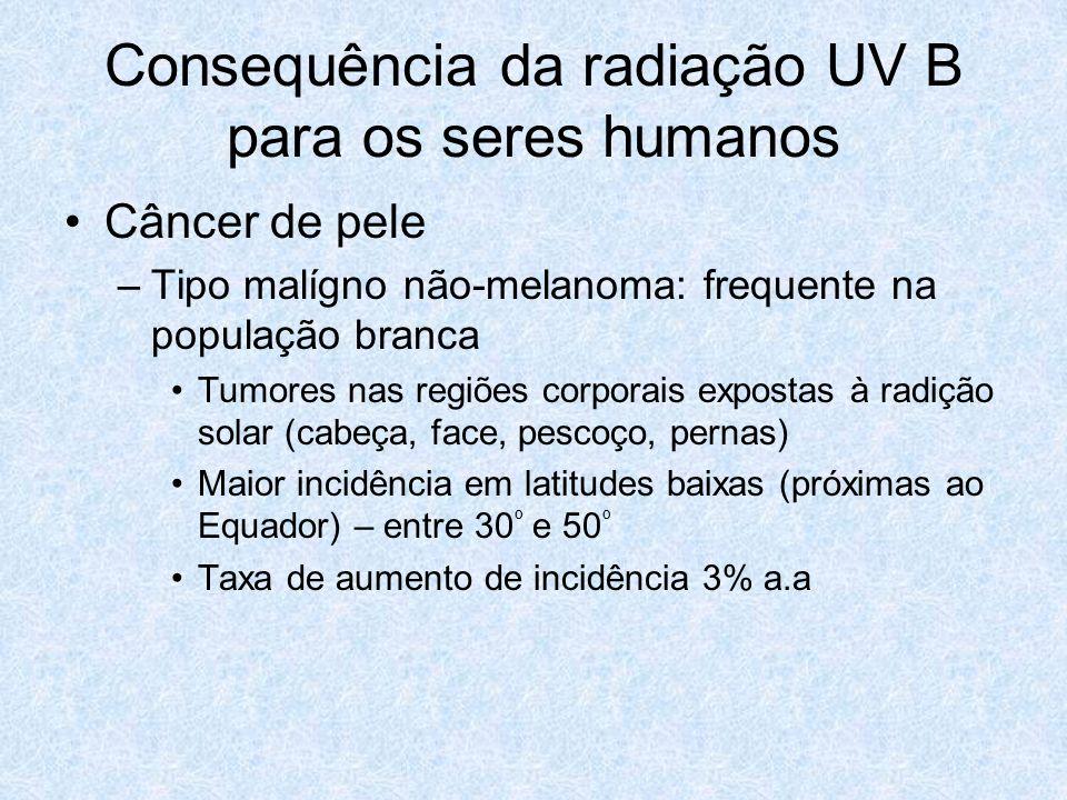 Consequência da radiação UV B para os seres humanos