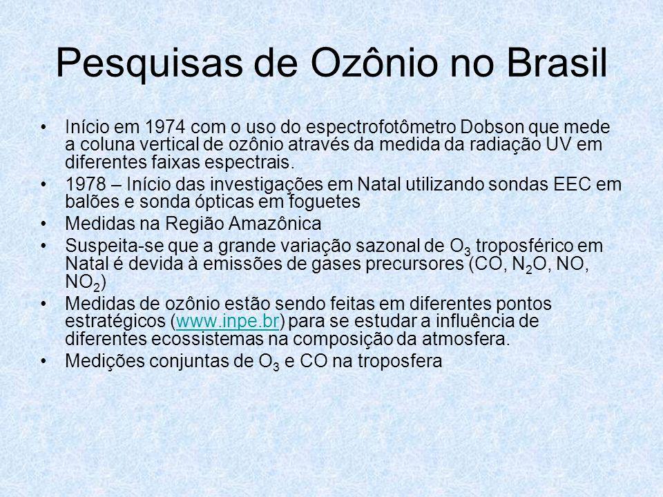 Pesquisas de Ozônio no Brasil