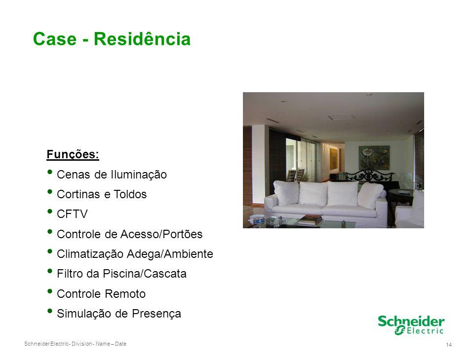 Case - Residência Funções: Cenas de Iluminação Cortinas e Toldos CFTV