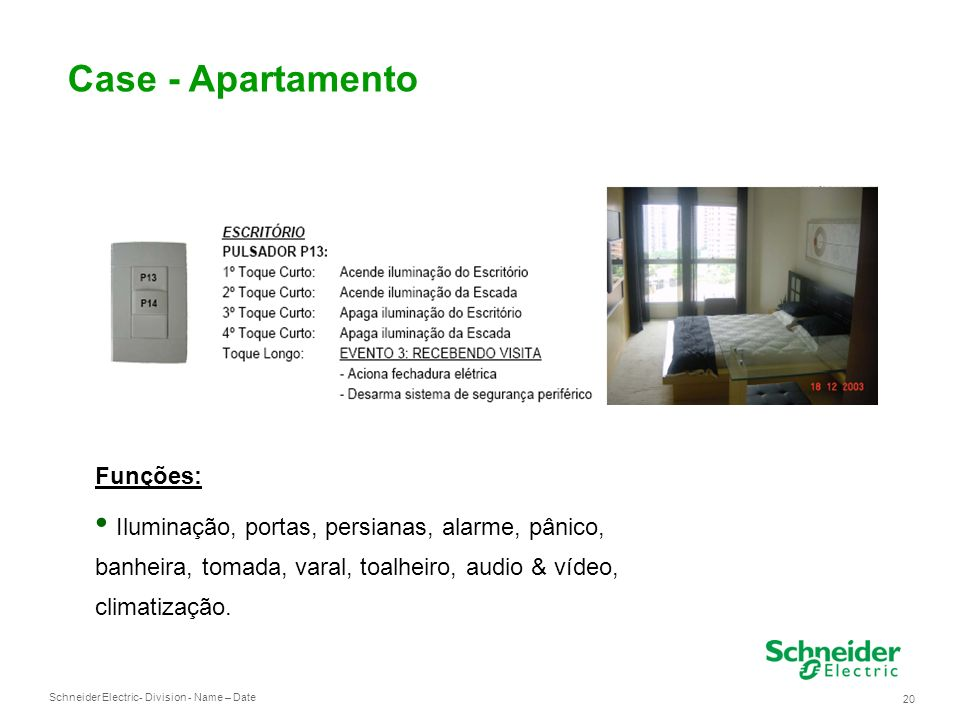 Case - Apartamento Funções: