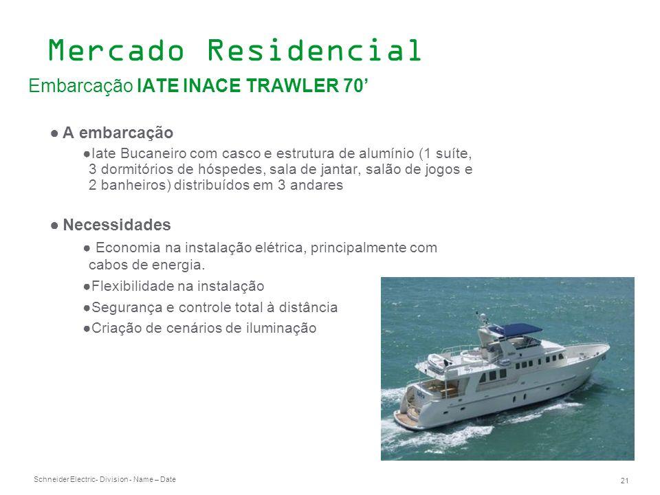 Mercado Residencial Embarcação IATE INACE TRAWLER 70' A embarcação