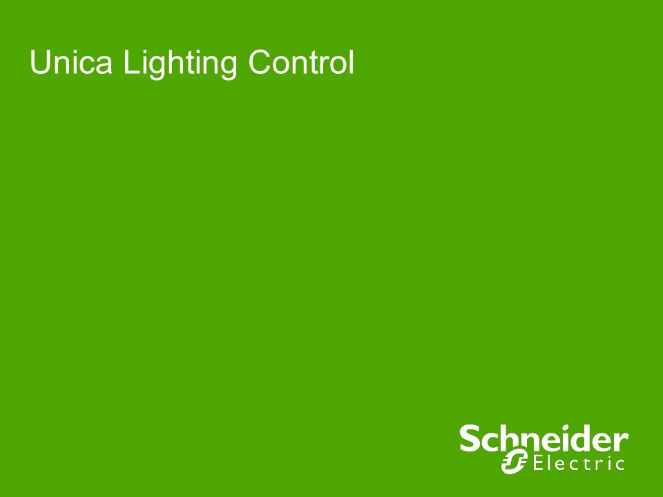 Unica Lighting Control