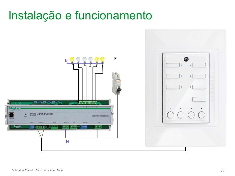 Instalação e funcionamento