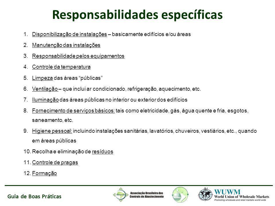 Responsabilidades específicas