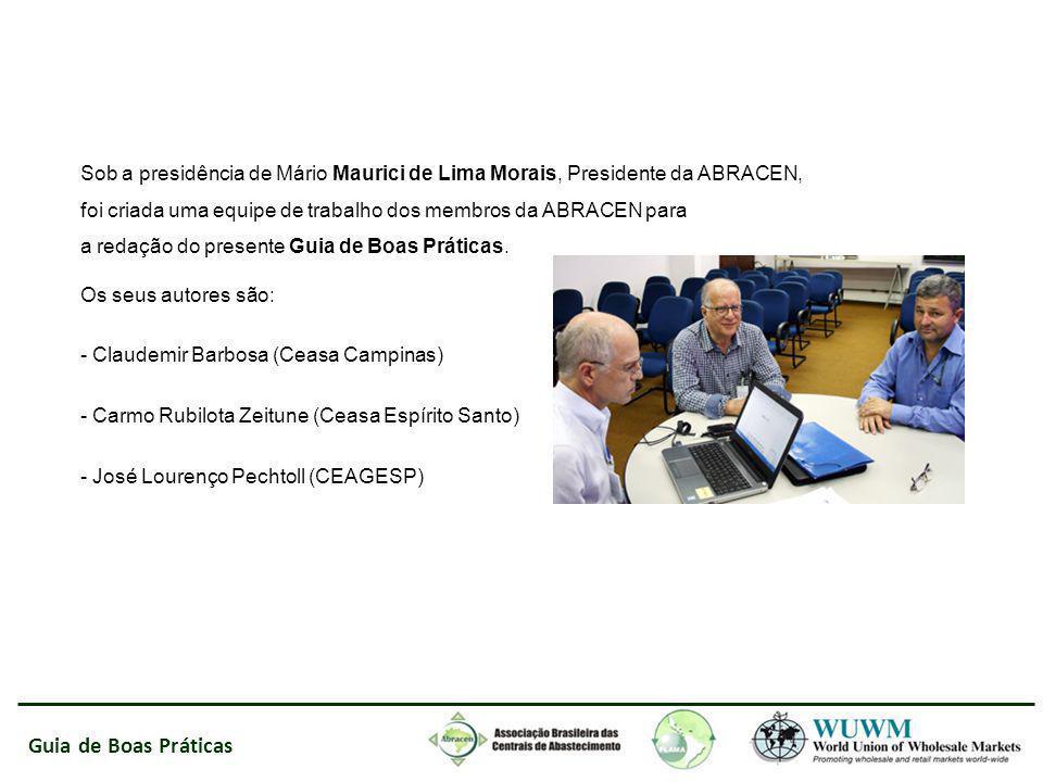 Sob a presidência de Mário Maurici de Lima Morais, Presidente da ABRACEN, foi criada uma equipe de trabalho dos membros da ABRACEN para a redação do presente Guia de Boas Práticas.