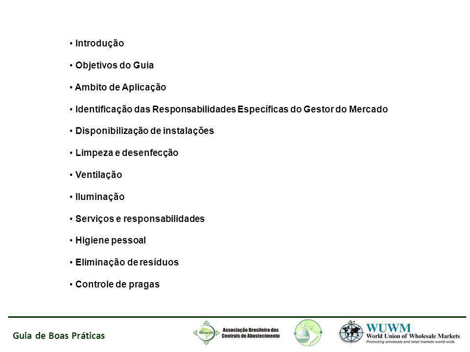Introdução Objetivos do Guia. Ambito de Aplicação. Identificação das Responsabilidades Específicas do Gestor do Mercado.