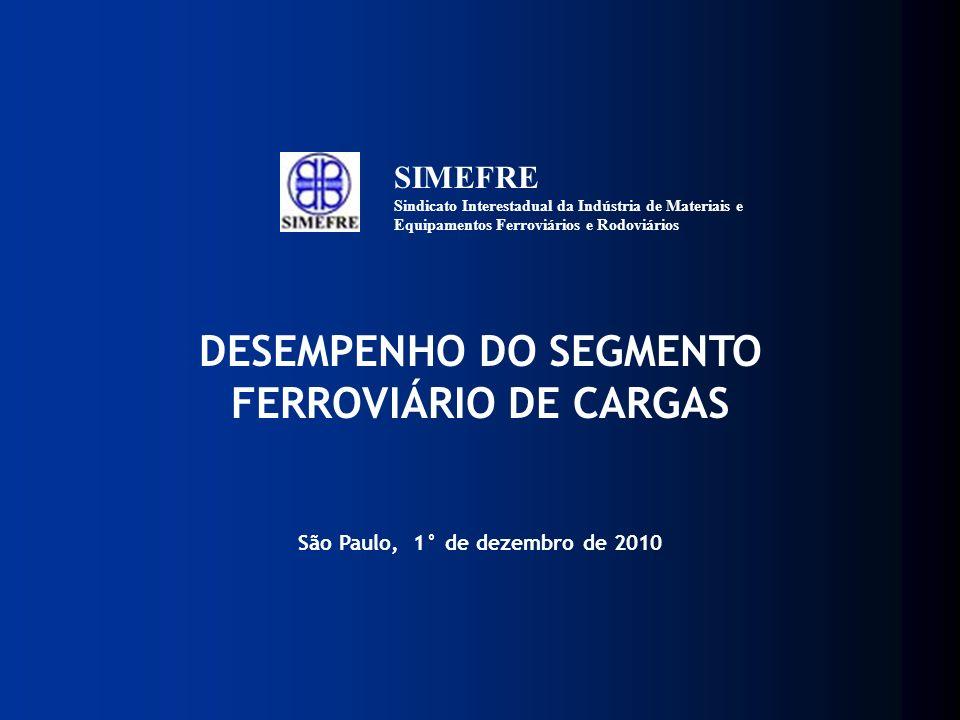 DESEMPENHO DO SEGMENTO FERROVIÁRIO DE CARGAS