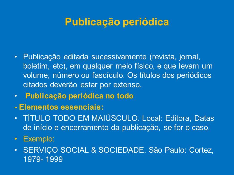 Publicação periódica