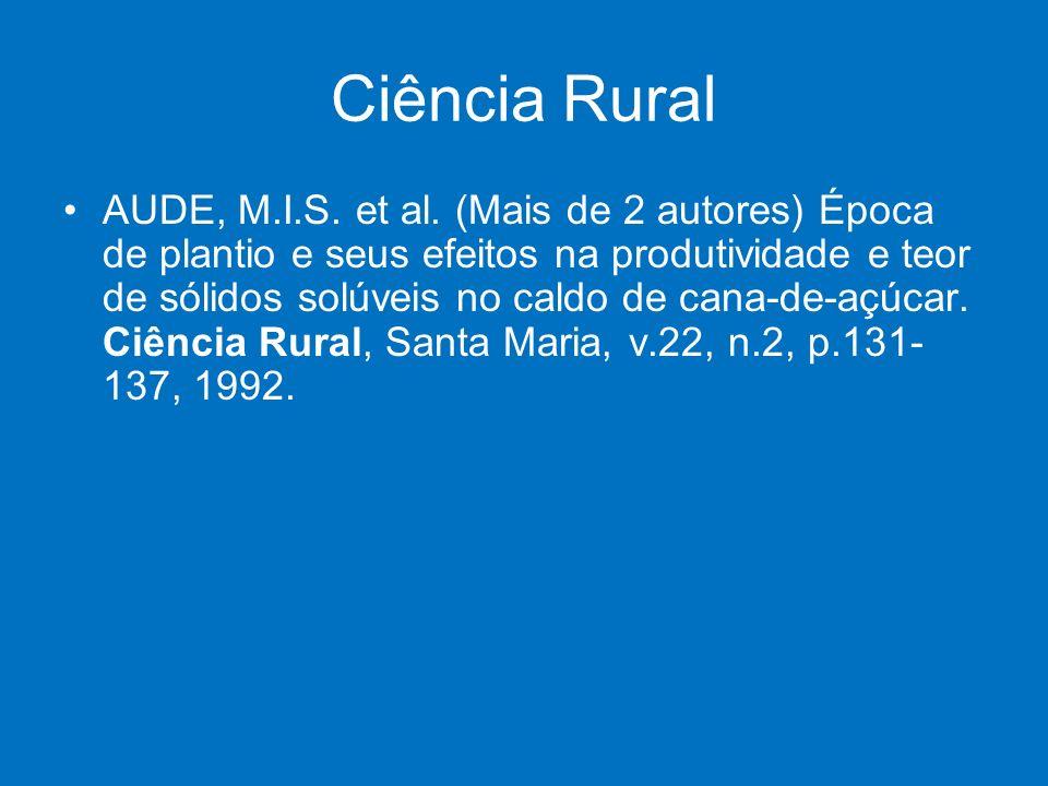 Ciência Rural